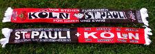 "Köln Pauli Schal ""STEHEN ZUSAMMEN"" Dom Kölle Fan Kurve Block Ultra 100% Acryl"