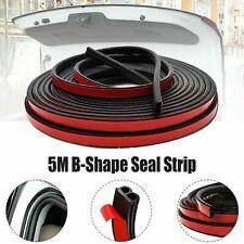 5M B-Shape Rubber Seal Strip Car Truck Door Hood Window Trim Hollow Weatherstrip