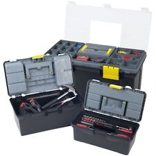 Set of 3 Tool Boxes for Crafts Tools Hammers with Removeable Trays