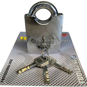 60mm Security Padlock. High Grade Solid Steel Shutter Padlock Inc Brass Cylinder