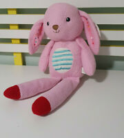 Kmart Crochet Style Rabbit Pink Plush Toy 46cm Tall Vintage Bunny