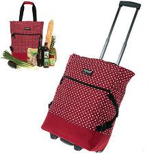 Shopper PUNTA Einkaufstrolley Einkaufskorb Trolley Einkaufsroller 0220 RED DOTS