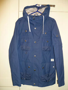 "JACK & JONES - 2014 ORIGINAL BLUE HOODED ""GIFT SHORT PARKA JACKET"" (S)"