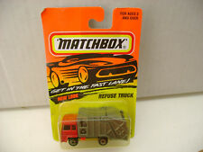 1996 MATCHBOX SUPERFAST #36 REFUSE TRUCK RED CAB NEW ON DAMAGED CARD
