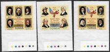 Tonga 1978 USA Bicentennial #C233, C236, C237 w/ Color Guides # VF-NH CV $25.75