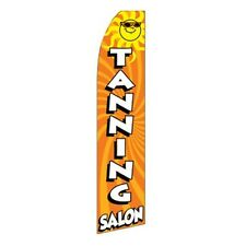 Tanning Salon W/ Sun Advertising Sign Swooper Feather Banner Flag Only