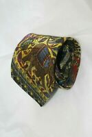 Rare Vtg BRIONI Multicolor  Novelty Handmade in Italy Silk men's Tie