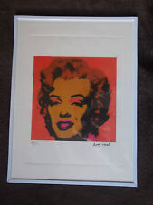 """Lithographie ,  Andy Warhol , """" Marilyn Monroe """" Tirage 500 Ex"""