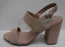 Steve Madden Size 7.5 Blush Suede Sandals New Womens Shoes