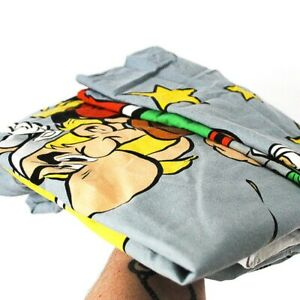 Vintage Retro 90s Asterix Single Duvet Quilt Cover Pillowcase Fabric Sewing