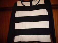 COAST BLACK AND CREAM STRIPE JUMPER. SIZE SMALL. GORGEOUS.