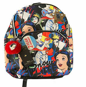 Fab NY Disney Princess Snow White Evil Queen Witch All Over Print Backpack New