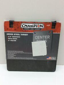 "Champion Target AR500 8""x 3/8"" Square Steel Target"