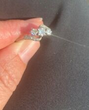 18ct White Gold And Diamond Trilogy Twist Ring Size L Engagement