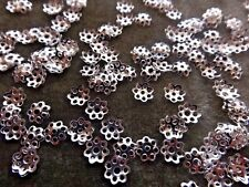 SPACER BEAD CAPS DAISY SILVER 6 MM PACKAGES OF 500