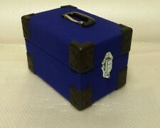 NEW 7inch record box singles case, retro blue  FREE POSTAGE.