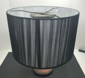 Urbanest Modern Box Drum Lampshade String Muslin Black Spider Fitter