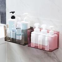 Wall Mounted Bathroom Cosmetics Shelf Storage Organizer Basket Shampoo Makeup BO