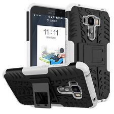 Für ASUS Zenfone 3 ZS570KL 5.7 Hybrid Case 2teilig Outdoor Weiß Tasche Hülle Neu