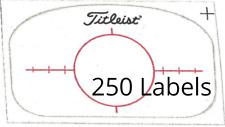 20-250 Multi Impact Golf Club Labels