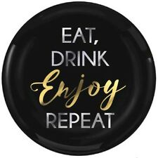 ADULT BIRTHDAY Eat Drink Enjoy Repeat SMALL PLASTIC PLATES (20) ~ Party Supplies