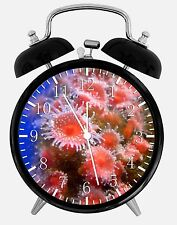 "Pink Coral Alarm Desk Clock 3.75"" Home or Office Decor E348 Nice For Gift"