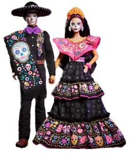 Barbie Signature Dia De Muertos 2021 Day of The Dead Barbie & Ken Bundle New