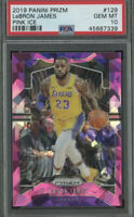 🔥2019-20 Panini Prizm Lebron James Pink Ice PSA 10 #129 Lakers GEM MINT