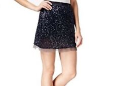 786d409e9 People Womens 1377 Navy Sequined Mini Pencil Casual Skirt 6 B B