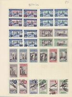 Spain Stamps on album page Ref 15117