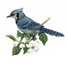 3 Blue Jay Bluejay Bird Select-A-Size Ceramic Waterslide Decals Tx
