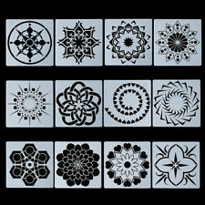 Stamp Painting Template Layering Stencils Scrapbooking Crafts Mandala Auxiliary