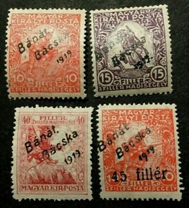 HUNGARY   10NB1-10NB4         MINT---VLH