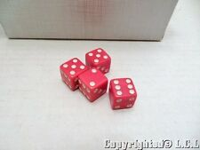 HUGE Vintage Lot of 235pcs Red Playing Dice 5/8