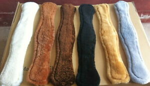 """Albion humane dressage girth brown leather sizes 20/"""" 24/"""" 26/"""" anatomical"""
