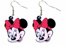 Minnie Mouse Disney Dangle Drop Earrings by Pashal