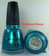 China Glaze Nail Polish BEAUTY & THE BEACH 563 Frosty Turquoise w Aqua Shimmer
