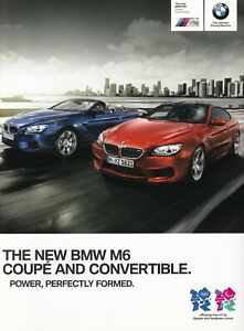 BMW M6 Coupe & Convertible 4.4 V8 Brochure 2012 50 Pages UK Market