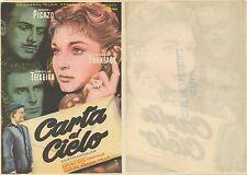 Programa de CINE. Título película: CARTA AL CIELO.