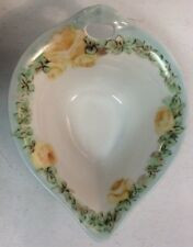 Weimar L M Ceramic Sauce Gravy Pour Bowl Yellow Rose Flowers PreownedKitchen.com