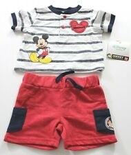 Disney Baby Outfit Mickey Short Sets Size Newborn NWT