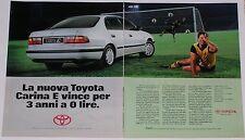 Advert Pubblicità 1993 TOYOTA CARINA E