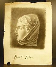 Tailandés a EDADES Retrato carbón de leña de aprox. 1850 Nobleza bretona Bretaña