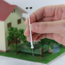 5pcs Model Railway N Scale Two-leds 6.7cm 1:150 Playground Light Plaza Lamppost