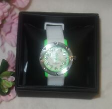 Ritmo Mvndo 242 Green Carnival Quartz White Mother of Pearl Dial Watch new