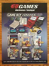 EB Games Nintendo Gameboy Advance SP GBA 2003 Vintage Poster Ad Art Metroid Rare