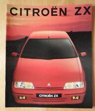 CITROEN ZX range 1991 Swiss Market sales brochure