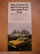 Ford Cortina GT Small Sales Folder 1970