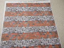 RICHARD STACEY FLINT & BRICK HEADER BOND code 9007 SIZE 28x20.5cms