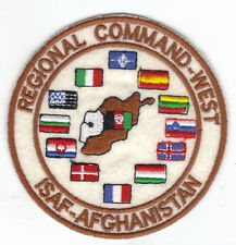 [Patch] REGIONAL COMMAND WEST ISAF AFGHANISTAN cm 9,5 toppa ricamata ricamo -056